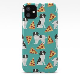 Japanese Chin cheery pizza slice junk food funny cute gifts for dog lover pet friendly pet protraits iPhone Case