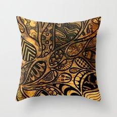 Autumnal Tangles Throw Pillow