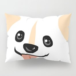 Akettu corgi face Pillow Sham