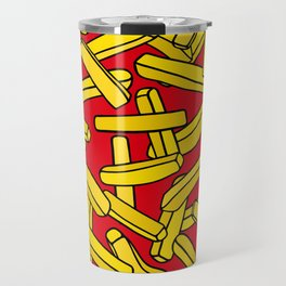French Fries on Red Travel Mug