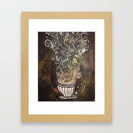 Chesire Coffee Framed Art Print