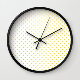 Dots (Gold/White) Wall Clock