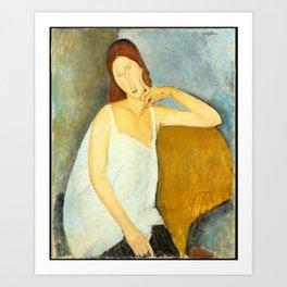 Amedeo Modigliani - Jeanne Hébuterne (1898–1920).jpg Art Print