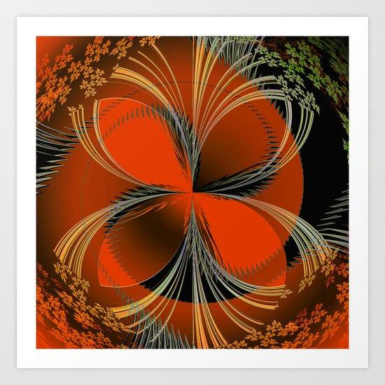 Vision In Orange Art Print