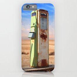 Old Gas Pump in Desert iPhone Case