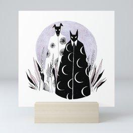 Moon Cat and Sun Dog Mini Art Print