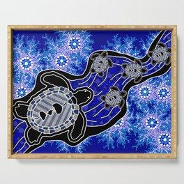 Baby Sea Turtles - Aboriginal Art Serving Tray