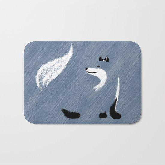 Unique Blue Fox Design Bath Mat