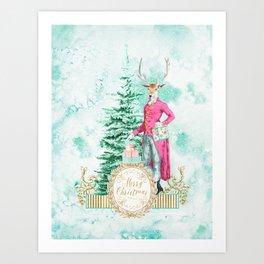 Merry Christmas my deer Art Print