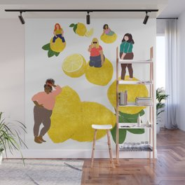 Lemon Babes Wall Mural