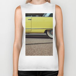 Retro yellow car Biker Tank