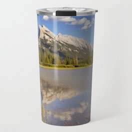 Vermilion Lakes and Mount Rundle, Banff National Park, Canada Travel Mug