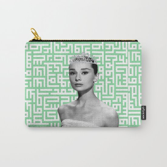 audrey with arabic calligraphy background Carry-All Pouch