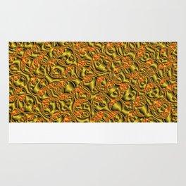 golden metall pattern Rug