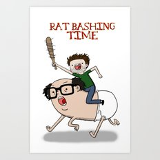 Rat Bashing Time Art Print