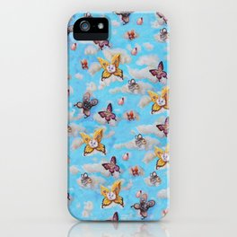 Cat Fairies print iPhone Case