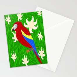 red Macaw Stationery Cards