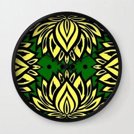 Waterlilies(green background) Wall Clock