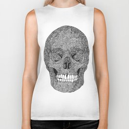 Skull and Spirals - WHITE Biker Tank