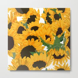 Bold Sunflowers  Metal Print