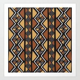 African mud cloth Mali Art Print