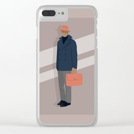 Trilby and Briefcase Clear iPhone Case