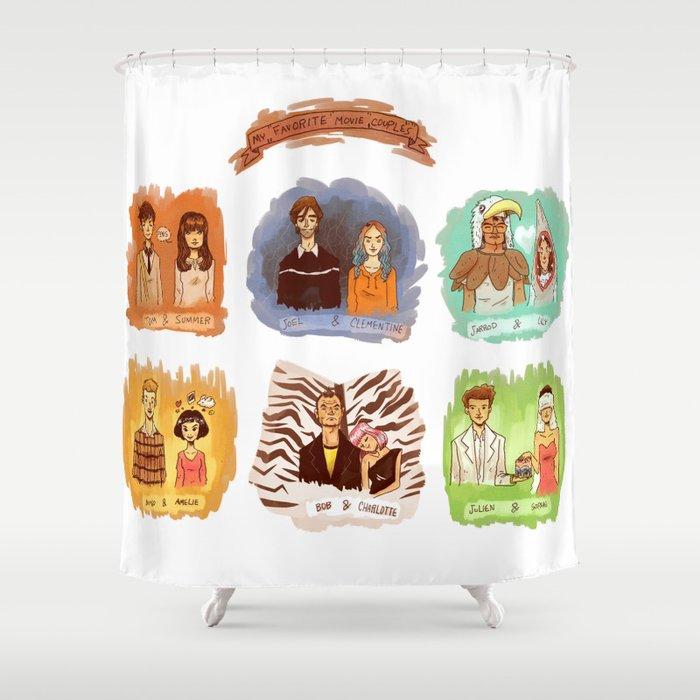 My favorite romantic movie couples Shower Curtain