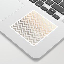 GOLD & SILVER CHEVRON Sticker