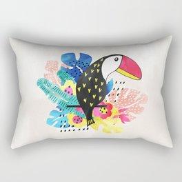 Toucan on a twig Rectangular Pillow