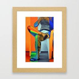 Comfortably Numb, 50-80cm, 2016, oil on canvas Framed Art Print
