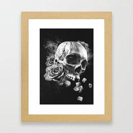 SKULL & ROSES III Framed Art Print