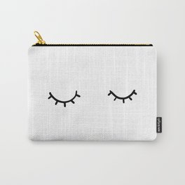 Closed eyes, just eyelashes Carry-All Pouch