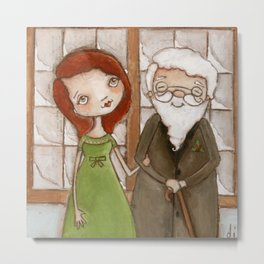 Miracle on 34th Street - Kris Kringle and Doris  Metal Print