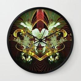Beautiful Wild Roses Fractal Wall Clock