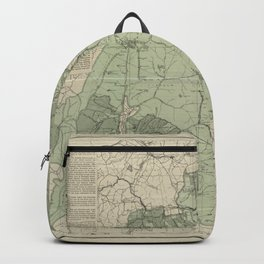 Vintage White Mountains New Hampshire Map (1915) Backpack