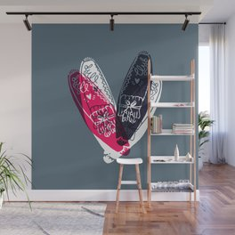 moccasin red and blue Wall Mural