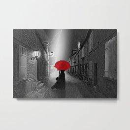 Alone in the rainy night Metal Print