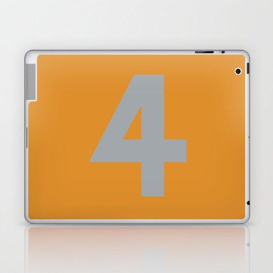 Number 4 Laptop & iPad Skin