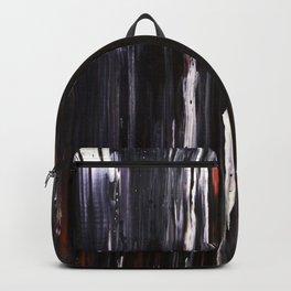 Abstract artwork #31 - Black Ocean Waves - Black Sea Waves - Black Waves - Black  Abstract Painting Backpack
