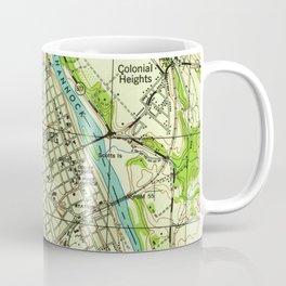 Vintage Map of Fredericksburg Virginia (1944) Coffee Mug