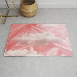 """""""Pink pastel sweet heaven and clouds"""" Rug"""