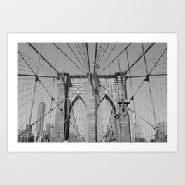 Brooklyn Bridge - B&W  Art Print