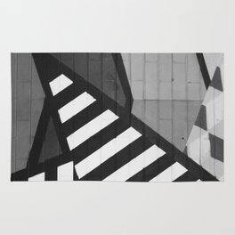 Abstract Art (Black and White) Rug