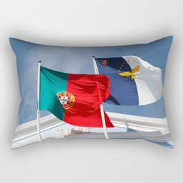 Portugal and Azores flags Rectangular Pillow