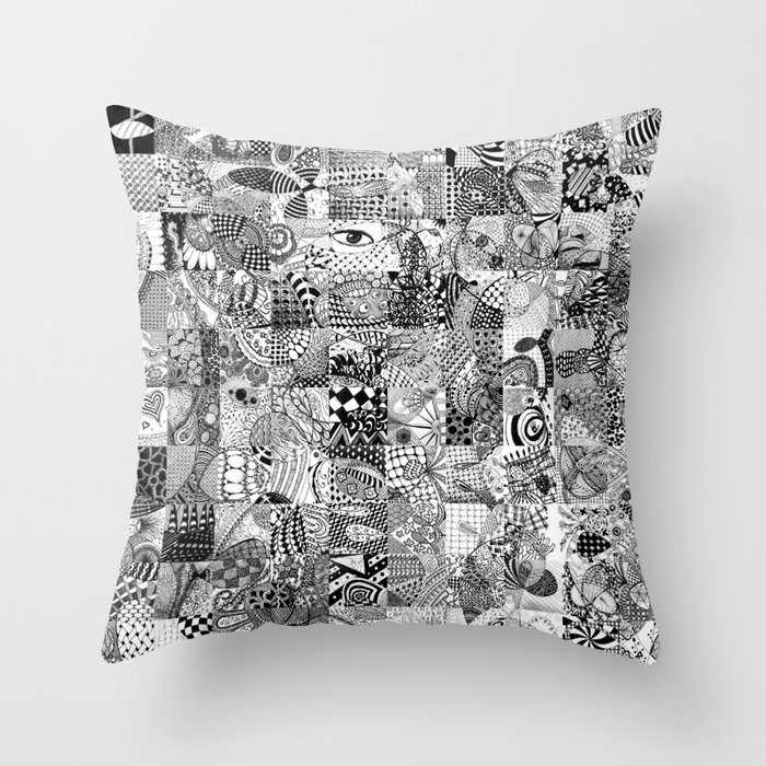 Doodling Together #5 Throw Pillow