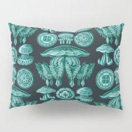 Ernst Haeckel - Scientific Illustration - Discomedusae (Jellyfish) Pillow Sham