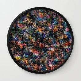 Wavy Pattern - Rainbow Wall Clock