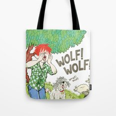 The Boy Who Cried Wolf Tote Bag