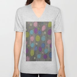 Pastel Bubbles Abstract Unisex V-Neck