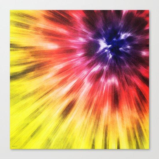 Colorful Starburst Tie Dye Canvas Print